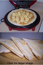 Banana and Peanut Butter Quesadillas